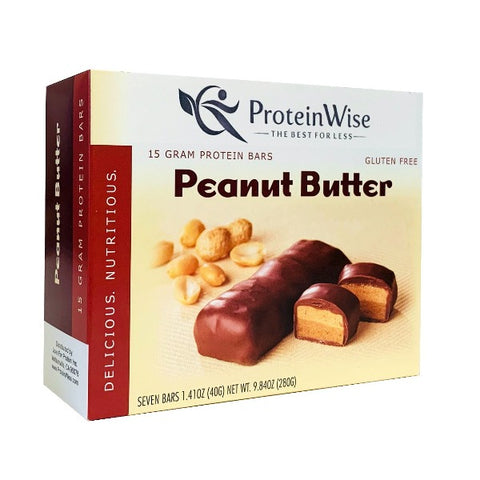 ProteinWise - Peanut Butter High Protein Bar - 7 Bars