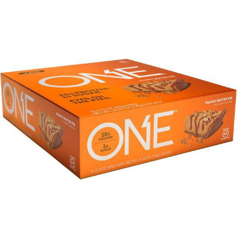 Protein Bars - Oh Yeah! High Protein One Bar - Peanut Butter Pie - 12 Bars - ProteinWise