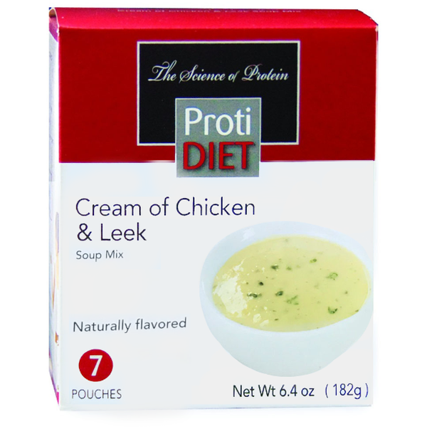 Soups - ProtiDiet Cream of Chicken & Leek Soup Mix - 7/Box - ProteinWise