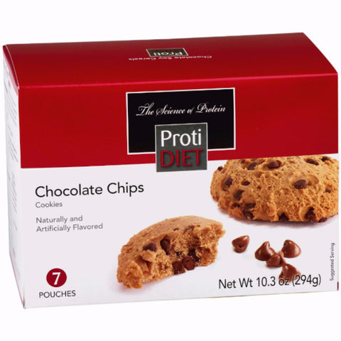 Snacks - ProtiDiet - Protein Chocolate Chips Cookies - 7/Box - ProteinWise