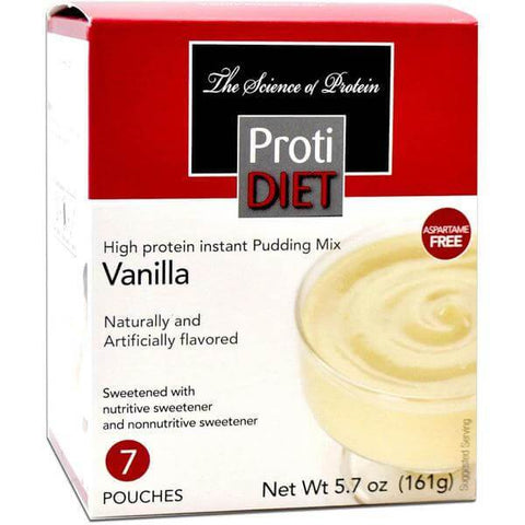 Pudding/Shakes - ProtiDiet - Vanilla Pudding Mix - 7/Box - ProteinWise