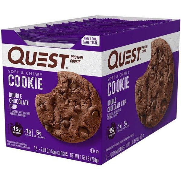 Quest - High Protein Double Chocolate Chip Cookie - 12/Box