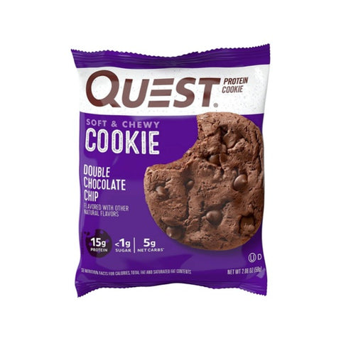 Quest - High Protein Double Chocolate Chip Cookie - 1 Cookies