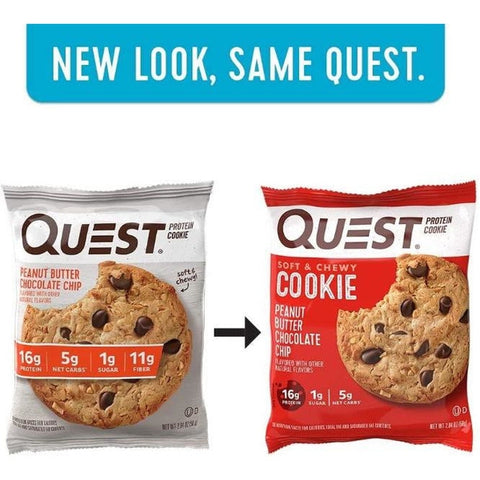 Quest - High Protein Peanut Butter Chocolate Chip Cookie - 1 Cookie