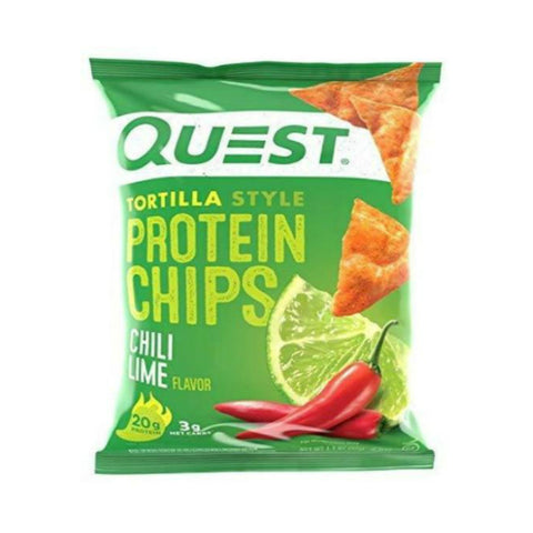 Snacks - Quest Protein Tortilla Chips - Chili Lime - 8 Bags - ProteinWise