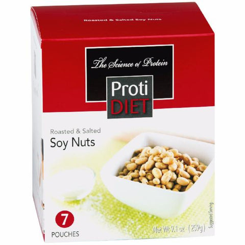 Snacks - ProtiDiet - Roasted & Salted Soy Nuts - 7/Box - ProteinWise
