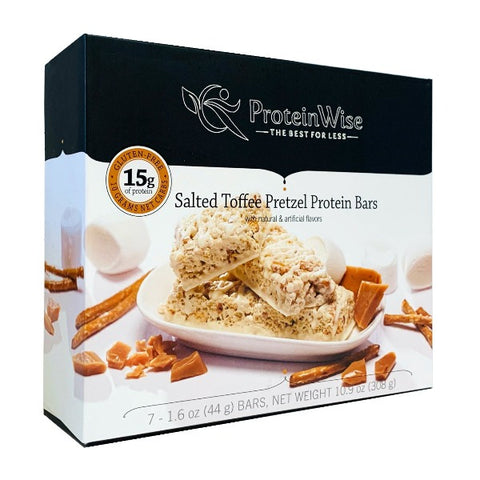 ProteinWise - Salted Toffee Pretzel Protein Bar - 7 Bars