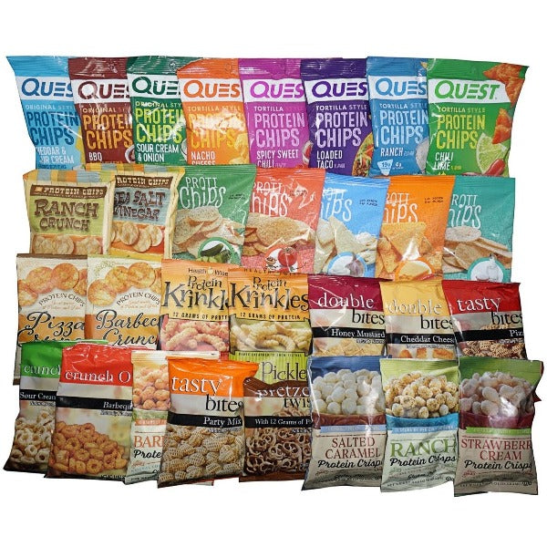 High Protein Snacks Sampler Pack - 32 Bags