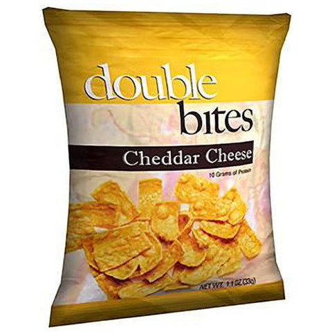 Snacks - ProteinWise - Double Bites Protein Chips Cheddar Cheese - 1 Bag - ProteinWise