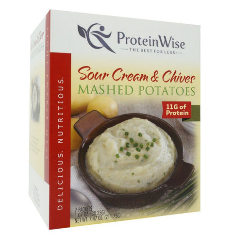 ProteinWise - High Protein Sour Cream and Chives Mashed Potatoes - 7/Box