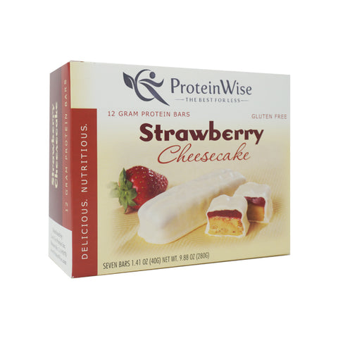 ProteinWise - Strawberry Cheesecake Protein Bar - 7 Bars