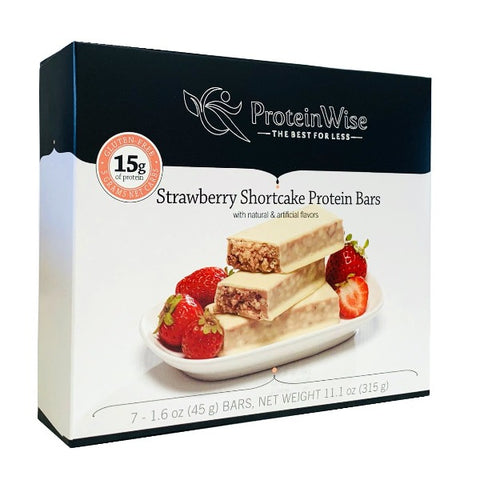 ProteinWise - Strawberry Shortcake Low Carb Protein Bar - 7 Bars