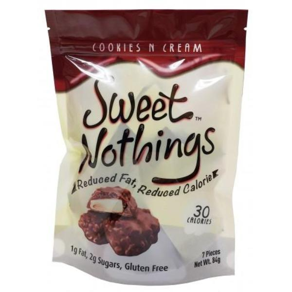 Snacks - HealthSmart - Sweet Nothings Cookies N Cream Pouch of 7 - 12g pieces - ProteinWise
