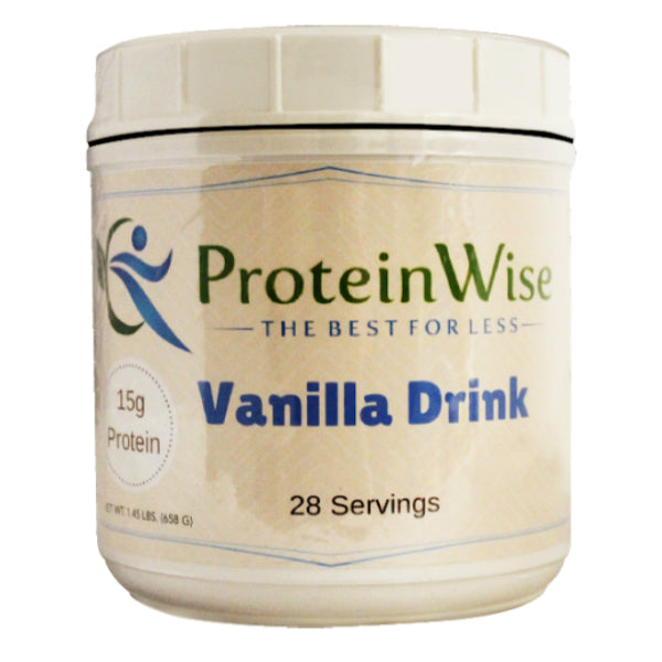 Cold Drinks - ProteinWise - Vanilla Protein Drink -  28 Serving Jar - ProteinWise