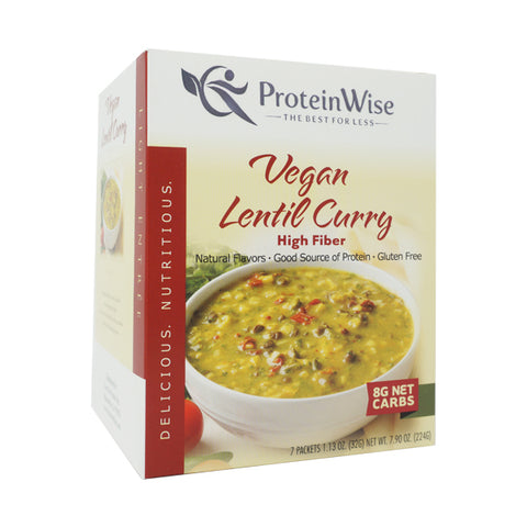 ProteinWise - Vegan Lentil Curry Light Entree - 7/Box