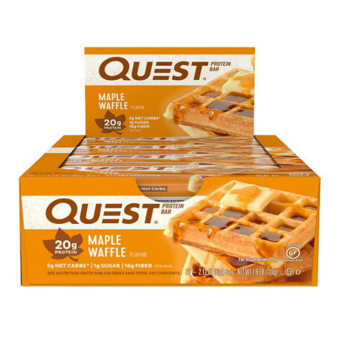 Protein Bars - Quest High Protein Bars - Maple Waffle - 12 Bars - ProteinWise