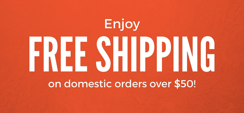 Free Shipping on domestic orders over $50?