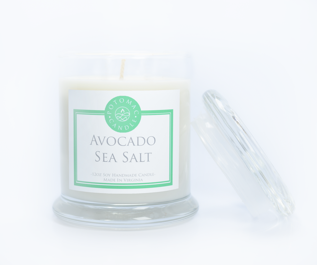 Avocado Sea Salt 12oz - Potomac Candle