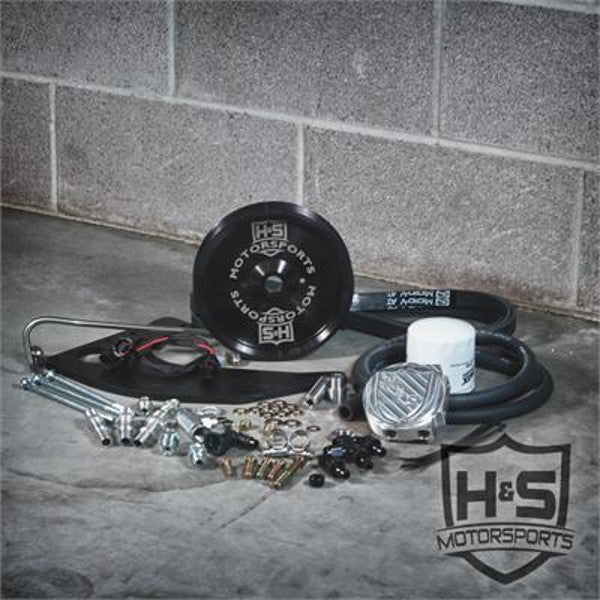 H&S Motorsports 121002-3 ( Black ) Dual High Pressure Fuel Kit w/o CP3   2011-2019 6.7 Powerstroke