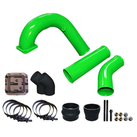 "Pusher 3.5"" MEGA Intake System with 3.5""  Intercooler Tubes 1994-1996 Dodge Cummins  (Green)"