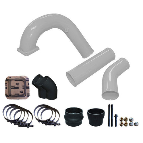 "Pusher 3.5"" MEGA Intake System with 3.5""  Intercooler Tubes 1994-1996 Dodge Cummins  (White)"