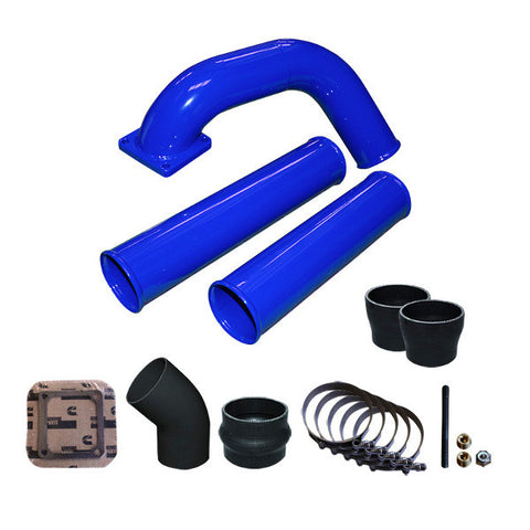 Pusher Pre and Post Intercooler Intake System for 1991.5-1993 Dodge Cummins 12v  (Blue)