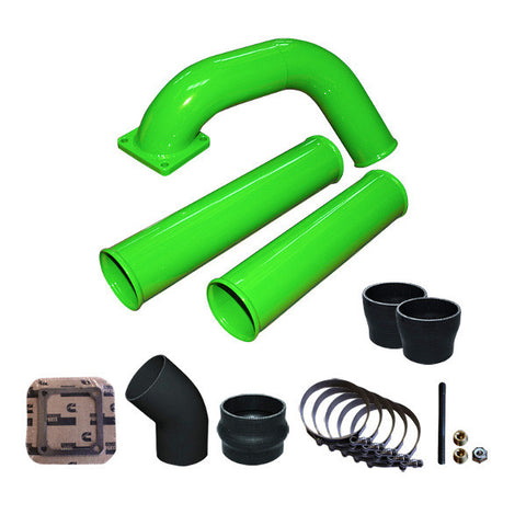 Pusher Pre and Post Intercooler Intake System for 1991.5-1993 Dodge Cummins 12v  (Green)