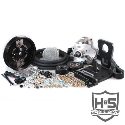 H&S Motorsports 131001-3 (Black ) Dual High Pressure Fuel Kit  2011-2016  6.6 Chevy Duramax