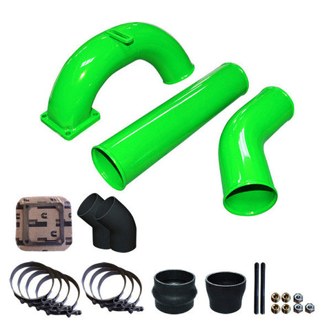 "Pusher 3.5"" MEGA Intake System 3.5""   Intercooler Tubes 1998.5 - 2002 5.9 Dodge Cummins  (Green)"