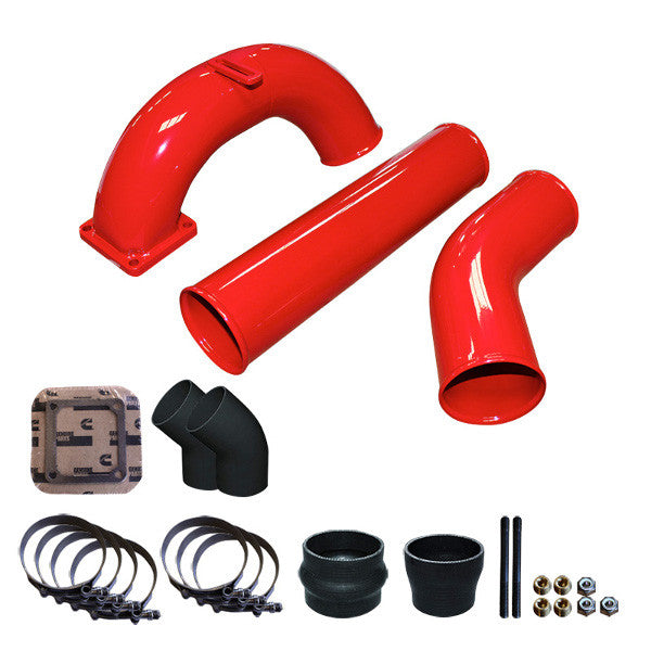 "Pusher 3.5"" MEGA Intake System 3.5""   Intercooler Tubes 1998.5 - 2002 5.9 Dodge Cummins  (Red)"