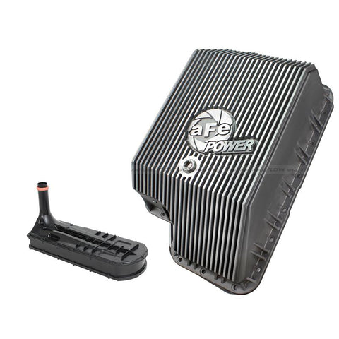 AFE 46-70120-1 TRANSMISSION PAN (RAW FINISH)  2003-2010 FORD 6.0L/6.4L POWERSTROKE