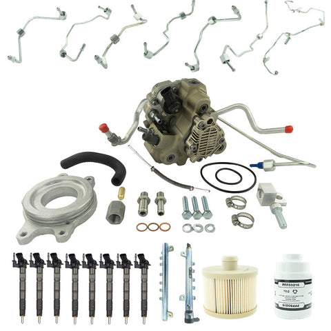 ( Industrial Injection 4G6104 2011-2016 6.6L DURAMAX LML BOSCH DISASTER KIT ) ( Fuel system replacement kit + CP3 Conversion kit))