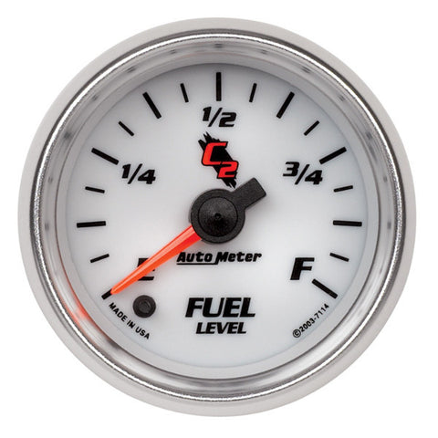 "Auto Meter 7114 C2 2-1/16"" FUEL LEVEL, PROGRAMMABLE 0-280 Ω,"
