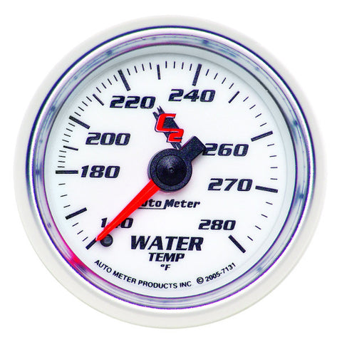 "Auto Meter 7131  C2  2-1/16"" WATER TEMPERATURE, 140-280 °F,"