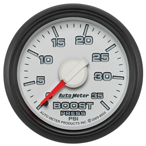 "Auto Meter  8504    2-1/16"" BOOST, 0-35 PSI, GEN 3 DODGE FACTORY MATCH"