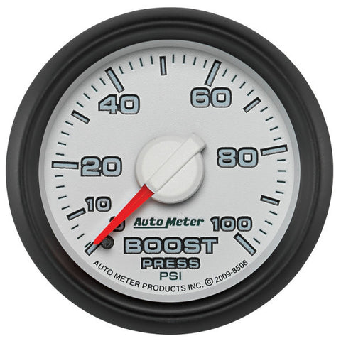 "Auto Meter  8506 2-1/16"" BOOST, 0-100 PSI, GEN 3 DODGE FACTORY MATCH"