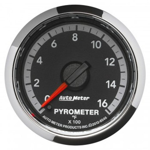 "Auto Meter 8546  2-1/16"" PYROMETER, 0-1600 °F, 4th Gen DODGE FACTORY MATCH"