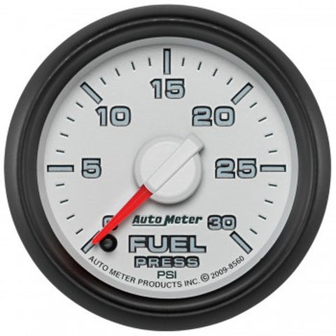 "Auto Meter  8560 2-1/16"" FUEL PRESSURE, 0-30 PSI, GEN 3 DODGE FACTORY MATCH"