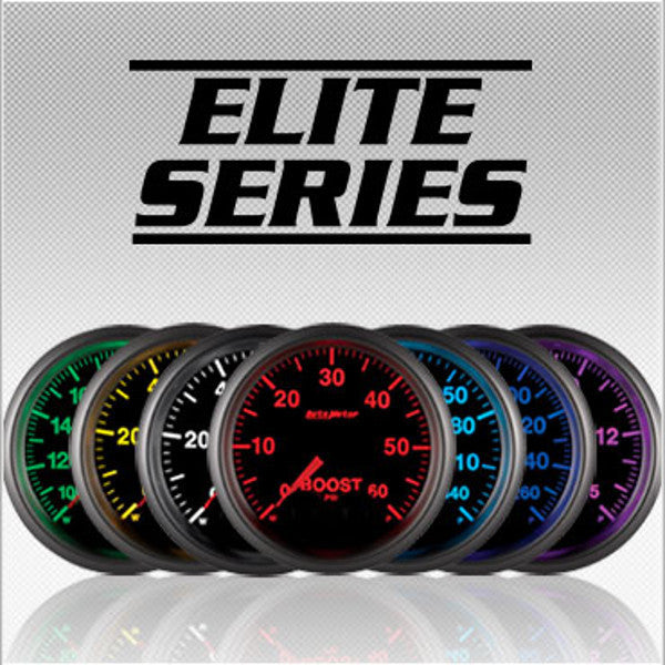 "Auto Meter Elite Series 5606  Elite Series  2-1/16"" BOOST, 0-100 PSI,  (Changes to 7 Different Colors)"