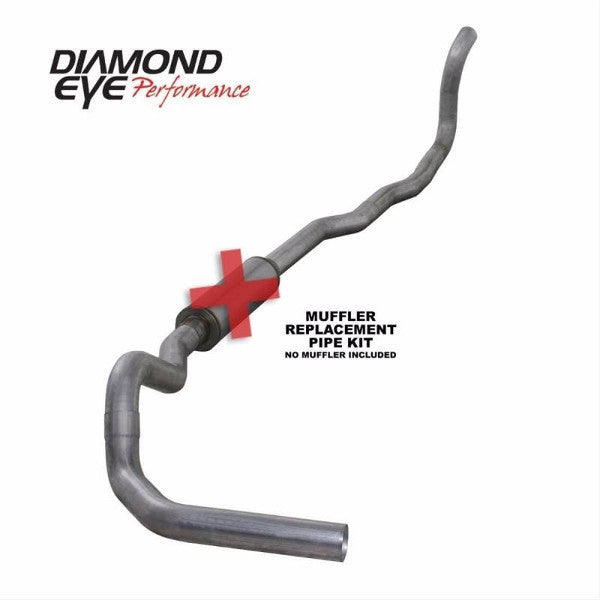 "Diamond Eye  K4212A-RP  1994 - 2002 Dodge Cummins  4""  Aluminized System (No Muffler)"