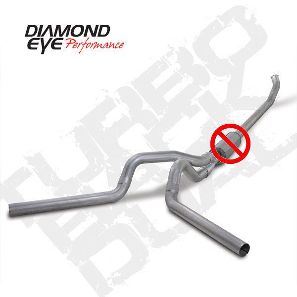 "Diamond Eye 2003 - 2004 Dodge 5.9L Cummins Diesel 4""  Aluminized Dual  (No Muffler) K4220A-RP"