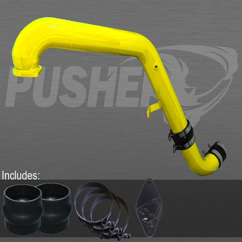 Pusher Max HD Charge Tube for 2011- 2016 Duramax LML Trucks   (Yellow)