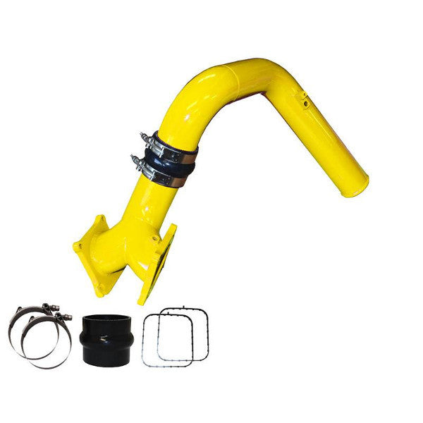Pusher SuperMax Y-Bridge & HD Charge Tube for 2007.5 - 2010 Duramax LMM Trucks (Yellow)