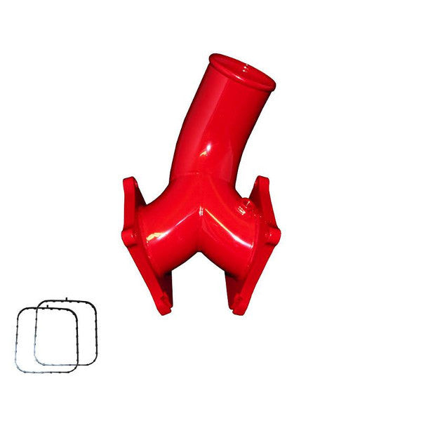Pusher SuperMax Y-Bridge for 2004.5 - 2005 Duramax LLY Trucks   (Red)