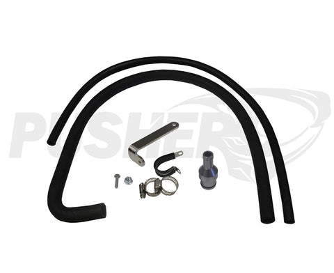 Pusher Coolant Reroute Kit for 2007-2012 RAM 6.7L Cummins (Removes Coolant up-pipe to Cooler)