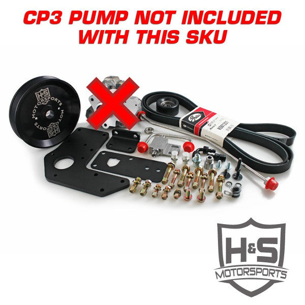 H&S Motorsports 211004  2007-2018 Cummins 6.7L Dual High Pressure Fuel Kit W/O CP3