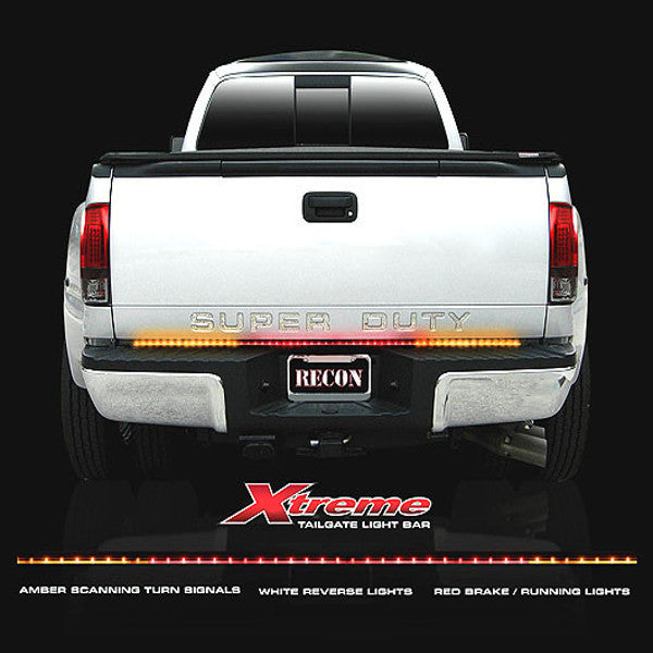 "Recon 26416x  60"" Tailgate Bar w/ Amber ""Scanning"" L.E.D. Turn Signals & Red L.E.D. Brake/Running Lights & White L.E.D. Reverse Lights"