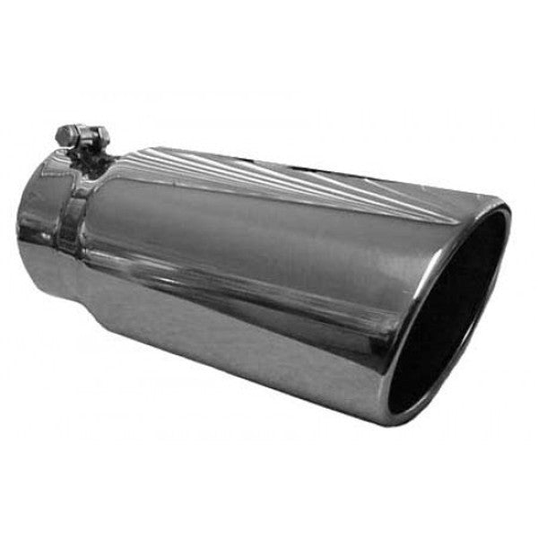 "Pypes Performance Exhaust  4"" in X 7"" out X 18"" long Monster Tip EVT407"