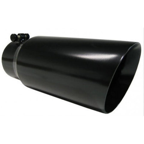 "Pypes Performance Exhaust   4"" X 5"" X 12"" long Monster Tip BLACK EVT405B"