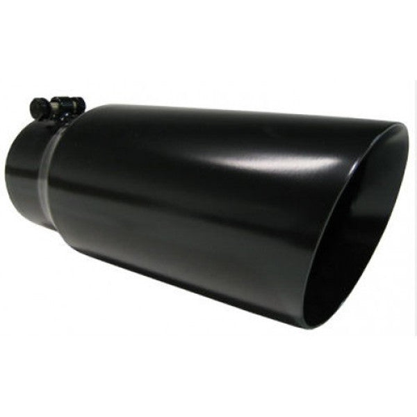 "Pypes Performance Exhaust 5"" in x 6"" out x 12"" long Monster Tip BLACK EVT506B"